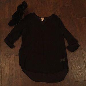 Black sheer tunic